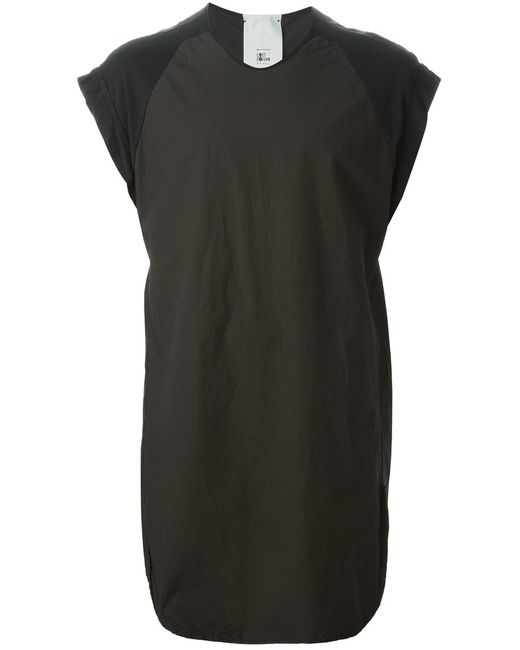 LOST AND FOUND | Мужское Cotton Panelled Long Tank From