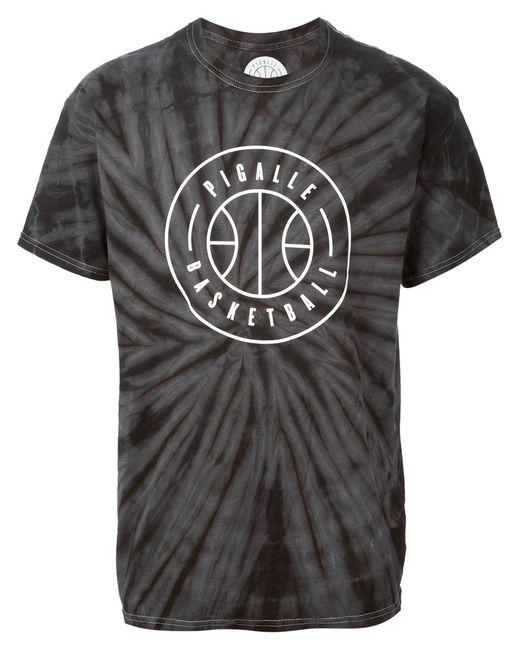 PIGALLE | Мужское Dark Cotton Logo Print Tie Dye T-Shirt