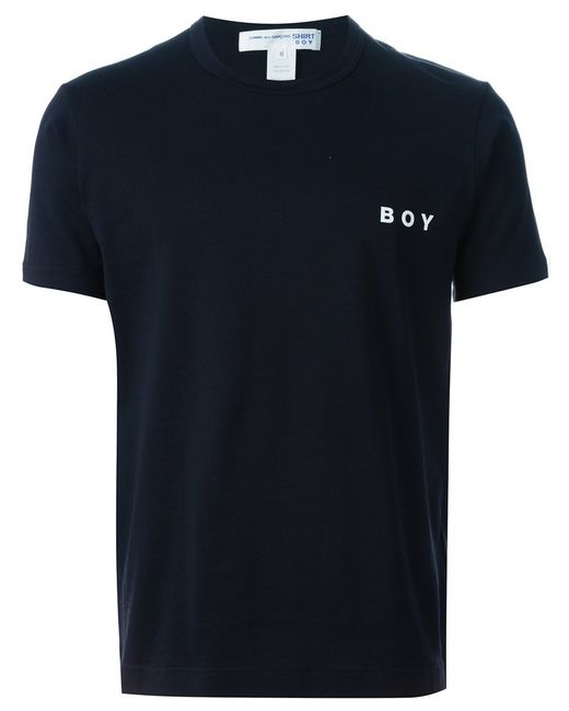 Comme Des Garcons | Мужское Navy Cotton Boy Print T-Shirt From Comme