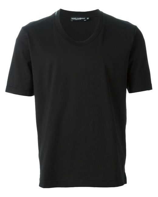 Dolce & Gabbana | Мужское Cotton Classic Round Neck T-Shirt From Featuring