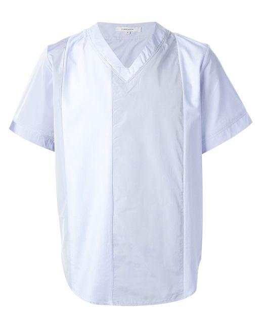 Carven | Мужское Light Cotton Panelled V-Neck T-Shirt From