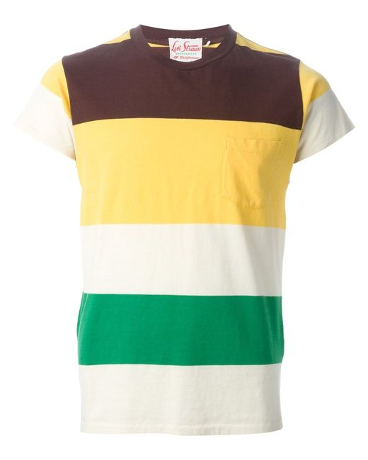 Levi'S Vintage Clothing | Мужское Multicoloured Cotton Wide Stripe Print T-Shirt From