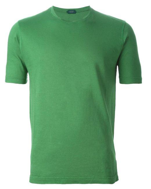 Zanone   Мужское Cotton Round Neck T-Shirt From