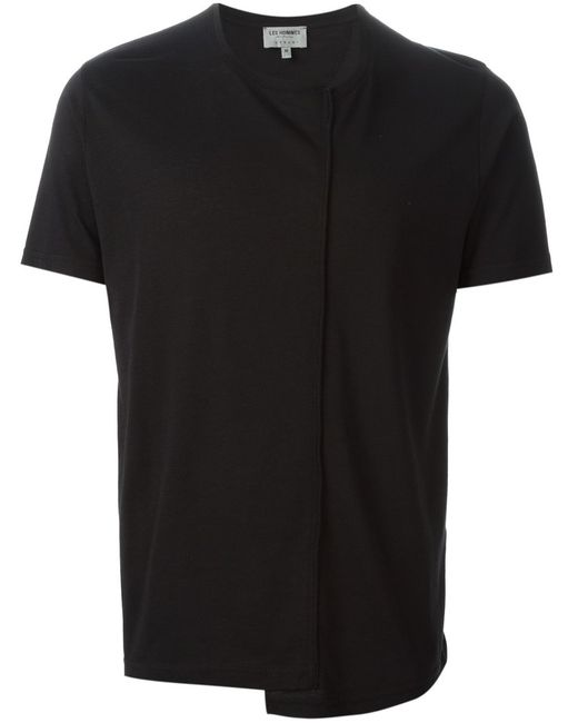 Les Hommes | Мужское Cotton Deconstructed T-Shirt From