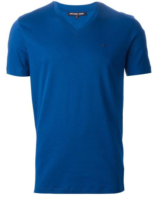 Michael Kors | Мужское Cotton V-Neck T-Shirt From