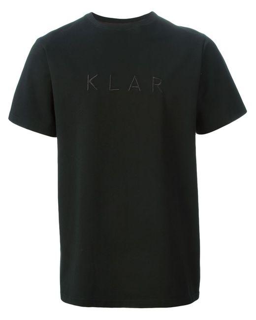 KLAR | Мужское Чёрный Logo Embroidered T-Shirt