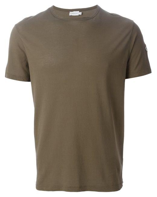 Moncler | Мужское Зелёный Cotton T-Shirt From Featuring A Crew Neck