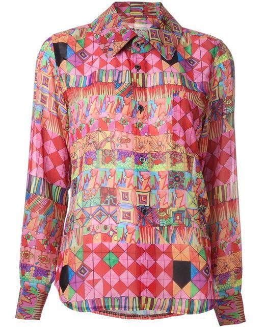Comme Des Garcons | Женская Многоцветная Блузка С Геометрическим Принтом