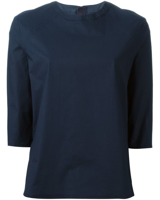 Acne | Женское Cotton Blend Jess Top From Featuring A