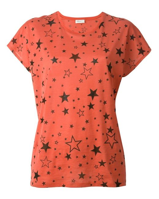 Saint Laurent | Женское Cotton T-Shirt From Featuring A Round Neck