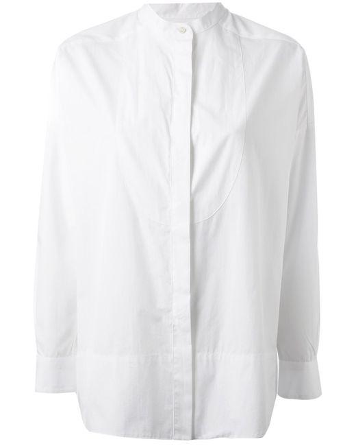 Alberto Biani | Женская Белая Рубашка С Воротником-Стойкой