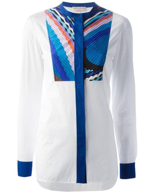 Emilio Pucci | Женская Белая Рубашка С Принтом