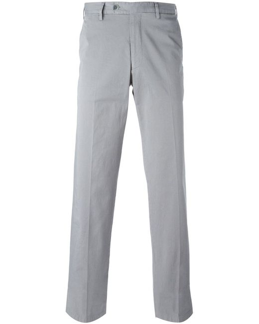 Canali | Мужское Cotton Blend Straight Fit Trousers From