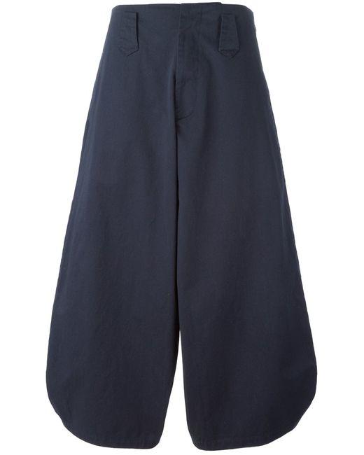 SOCIETE ANONYME | Женское Navy Cotton High Waist Wide Leg Trousers