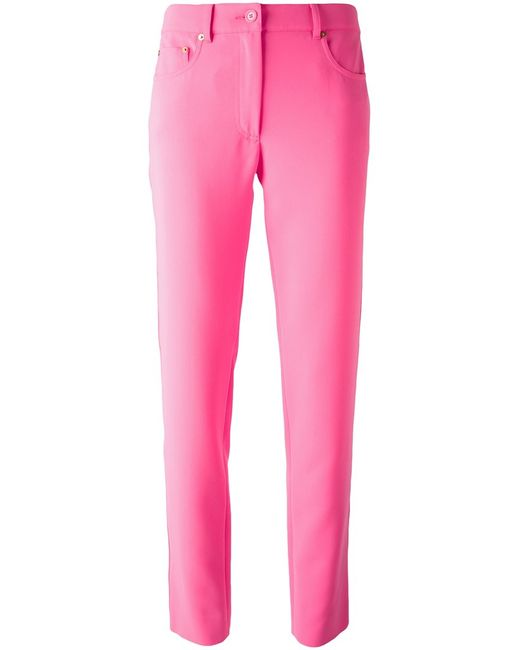 Moschino | Женское Розовый Straight Leg Trousers