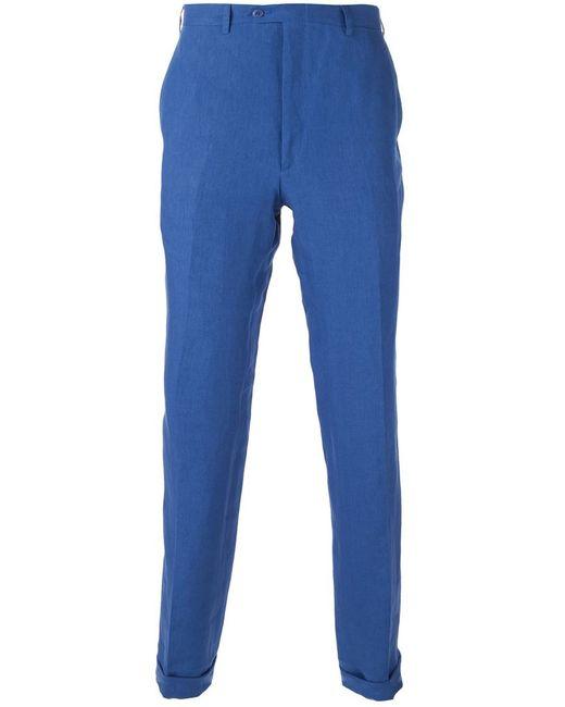 Brioni   Мужское Синий Slim Tailored Trousers