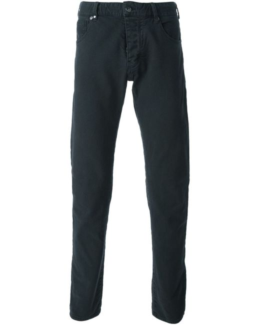 ARMANI JEANS | Мужское Синий Cotton Straight Leg Trousers From