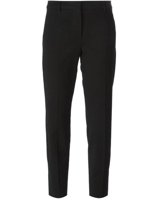 SportMax   Женское Чёрный Cropped Slim Fit Trousers From