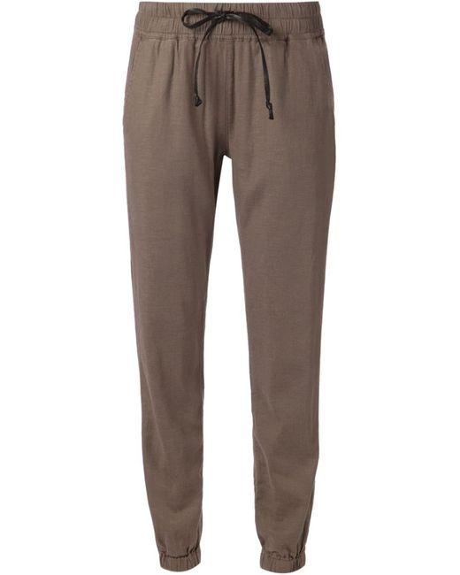 Hudson | Женское Коричневый Linen Blend Addison Cropped Trousers From