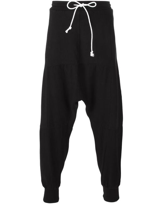 LOST AND FOUND ROOMS   Мужское Чёрный Drop Crotch Track Pants