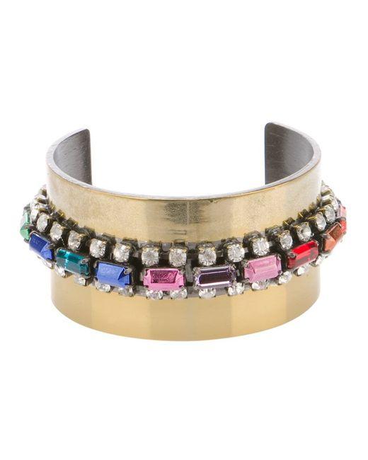 IOSSELLIANI   Женское Серебристый -Tone Brass Bracelet From Featuring Stone Embellishments