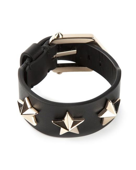 Givenchy | Женское And Leather Star Embossed Bracelet From Featuring