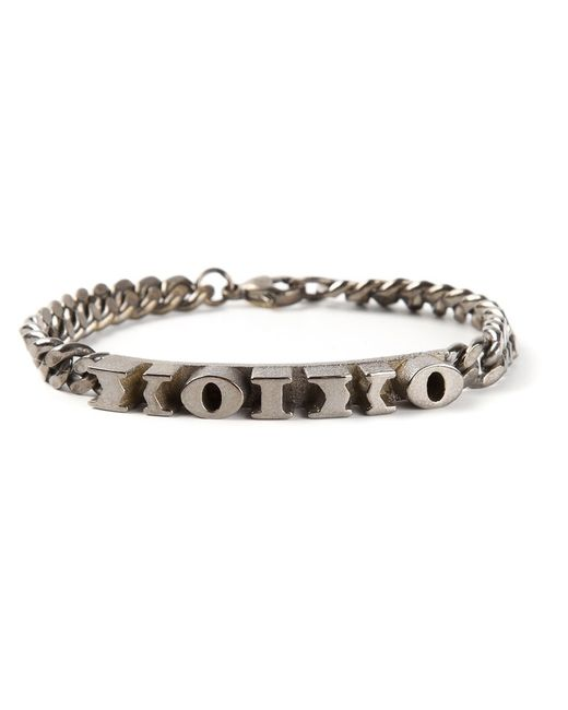 ROXANNE FARAHMAND | Женское Серебристый Rhodium Greek Letter Identity Bracelet From