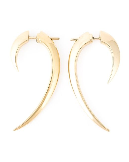 SHAUN LEANE   Женское Серебристый Vermeil Sterling Signature Tusk Earrings From Featuring