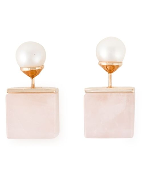 VITA FEDE | Женское Metallic And Tone Square Pearl Earrings From