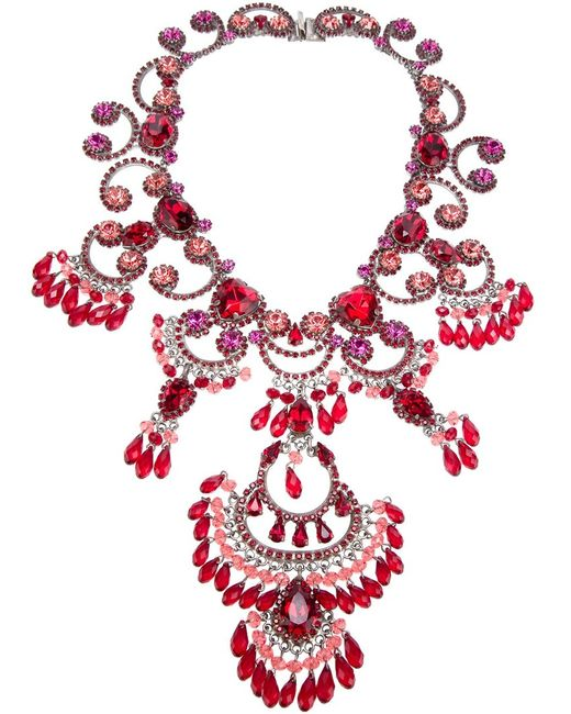 Rodrigo Otazu | Женское Серебристый Exquisite Couture Necklace From Featuring A Signature