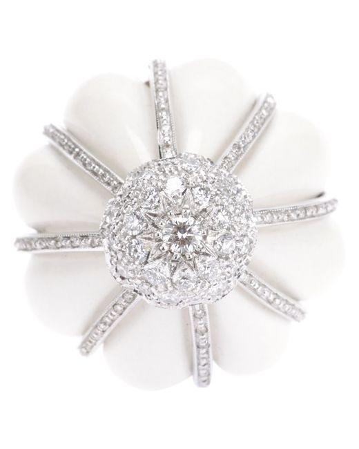 FRANCESCO DEMARIA | Женское Серебристый 18kt And Diamond Flower Ring