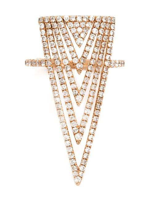LAUREN CRAFT COLLECTION   Женское Серебристый Diamond Triangle Ring