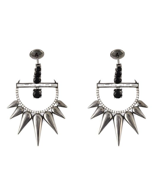 ELISE DRAY | Женское Серебристый Spiked Earrings From Featuring A Post Back