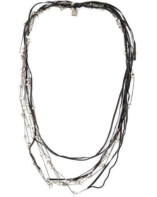 GOTI | Женское Серый Long Snail Shell Necklace