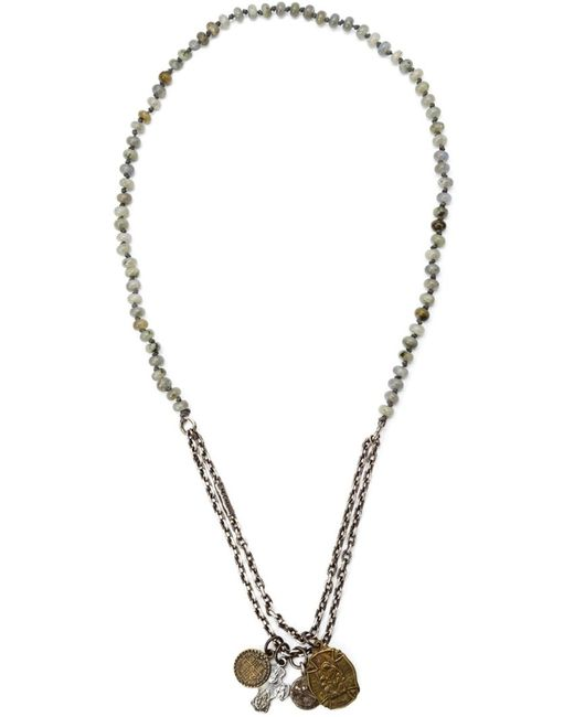 M COHEN | Мужское Серебристый Sterling And Gemstone Beaded Charm Necklace From