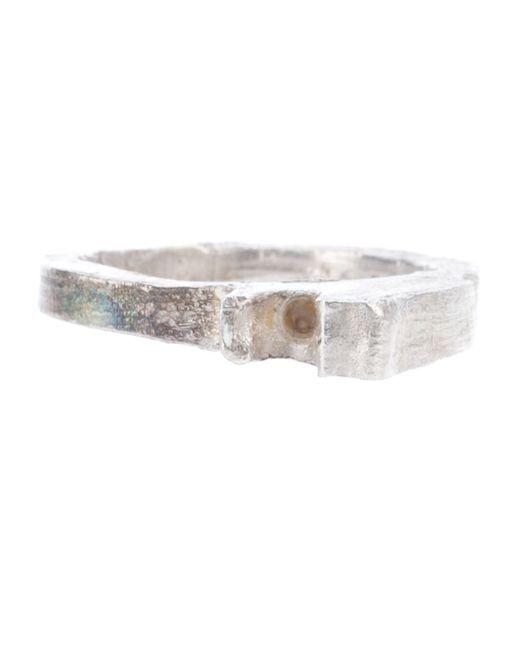 ALICE WAESE   Женское Серебристый 2 Prong Carved Ring