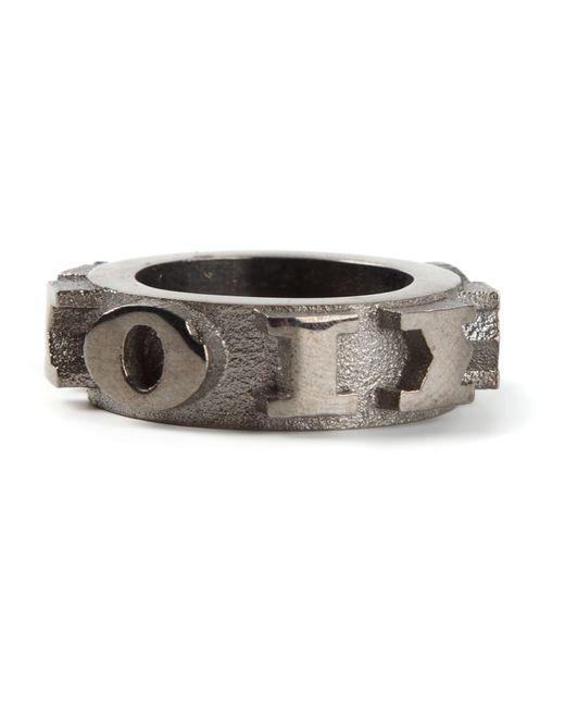 ROXANNE FARAHMAND | Женское Серебристый Rhodium Volvo 3d Print Statement Ring From