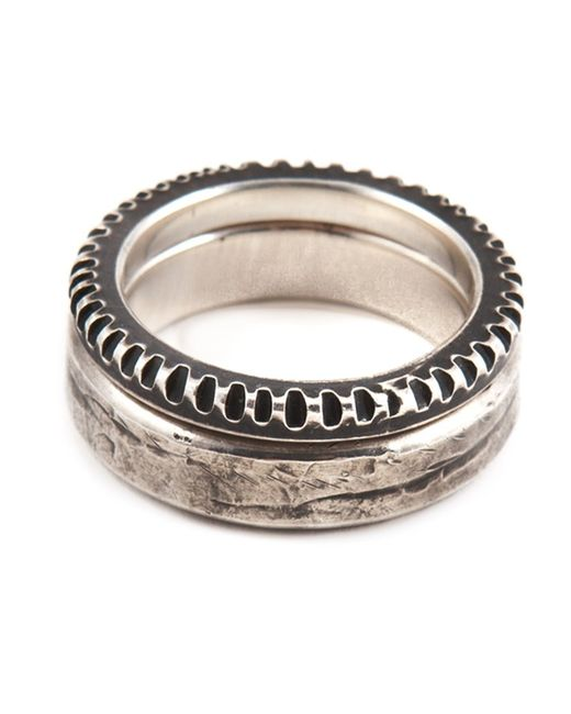 WERKSTATT:M NCHEN   Мужское Sterling Punched Ring Set From