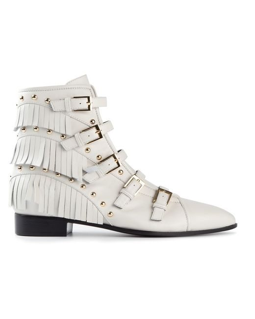Giuseppe Zanotti Design | Женское Белый Fringe Detail Boots