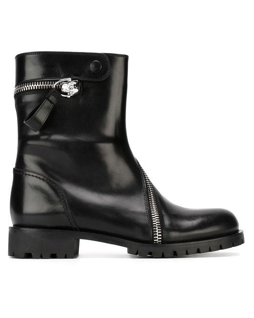 Alexander McQueen | Женские Чёрные Ботинки Rider