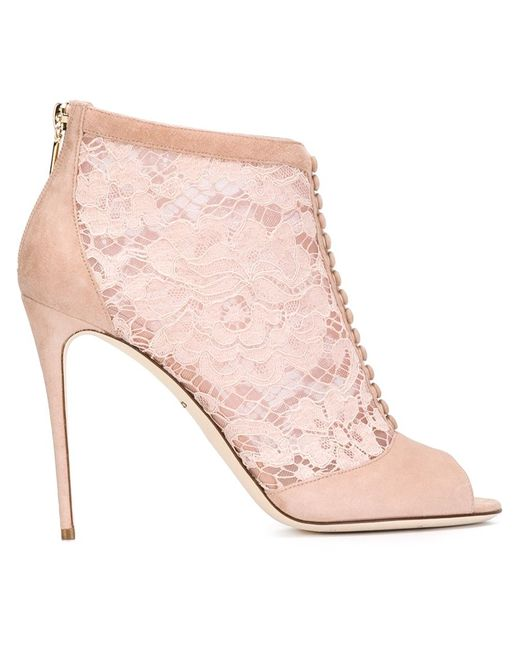 Dolce & Gabbana   Женские Розовые Ботильоны Bette