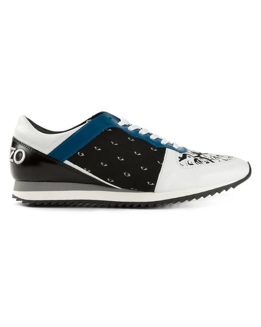 Kenzo | Женское Белый Eye And Tiger Head Sneakers