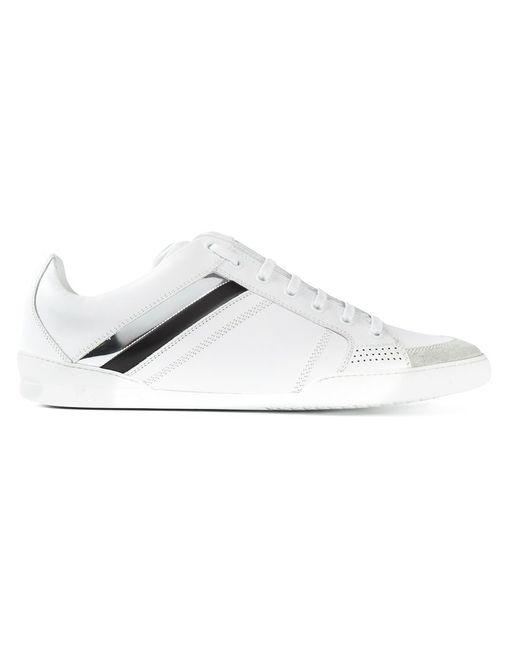 Dior Homme | Мужские Белые Кроссовки С Лакированными Полосками