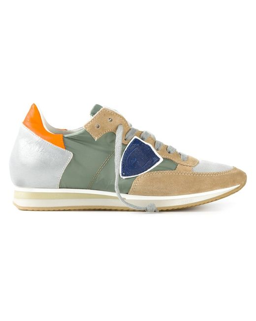 Philippe Model | Женское Nude & Neutrals Multicoloured Leather Panelled Lace-Up Sneakers From