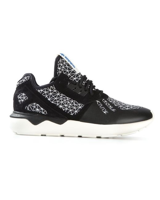 Adidas   Женское Чёрный Leather Tubular Runner Sneakers From Featuring A