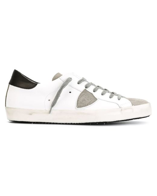 Philippe Model | Мужское Белый Logo Patch Sneakers