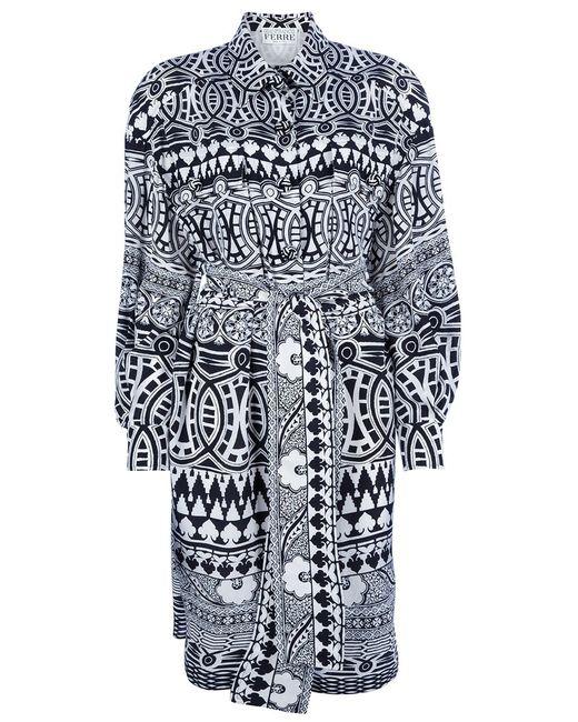 GIANFRANCO FERRE VINTAGE   Женское Чёрное Платье С Геометрическим Рисунком