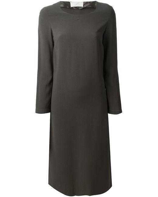 Maison Margiela | Женское Серое Платье Из Джерси Label