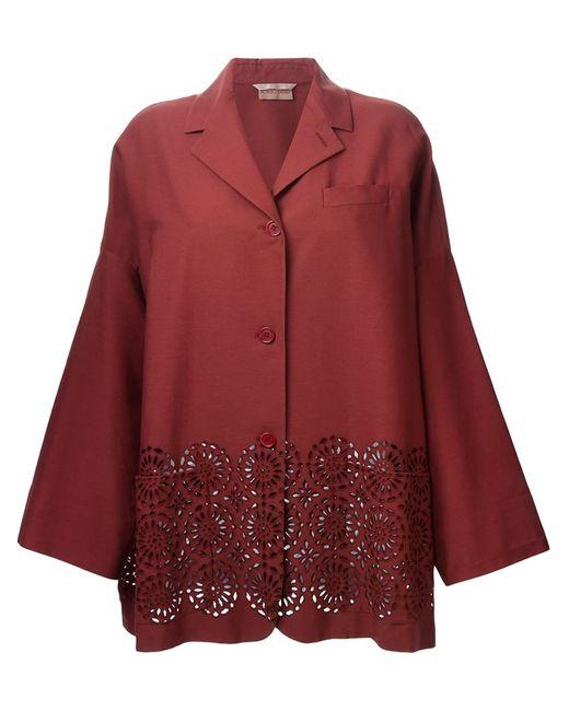 ROMEO GIGLI VINTAGE | Женский Красный Пиджак С Широкими Рукавами