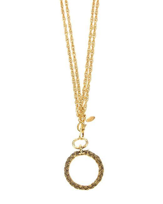 Chanel Vintage | Женское Серебристое Колье С Подвеской-Кольцом